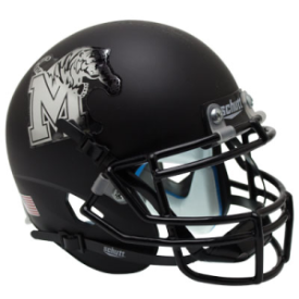 Memphis Tigers Matte Black Schutt XP Replica Full Size Football Helmet