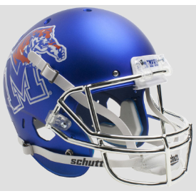 Memphis Tigers Satin w/Chrome Mask Schutt XP Replica Full Size Football Helmet