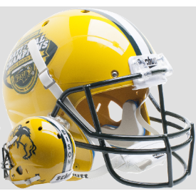 North Dakota State Bison Gold National Champs Schutt XP Replica Full Size Football Helmet