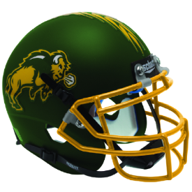North Dakota State Bison Matte Green Schutt XP Replica Full Size Football Helmet