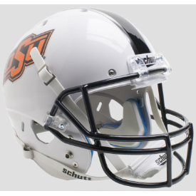 Oklahoma State Cowboys WH/BK/GY Schutt XP Replica Full Size Football Helmet