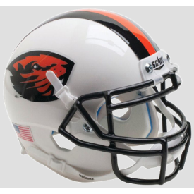 Oregon State Beavers Orange Beaver/Stripe Schutt XP Replica Full Size Football Helmet