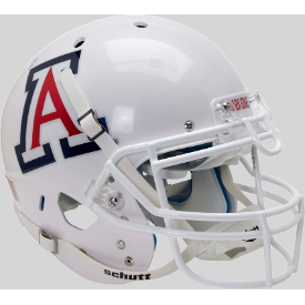 Arizona Wildcats White w/Chrome Decal Schutt XP Replica Full Size Football Helmet