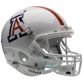 Arizona Wildcats White w/Stripe Schutt XP Replica Full Size Football Helmet
