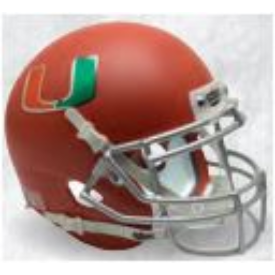 Miami Hurricanes Orange Schutt XP Replica Full Size Football Helmet