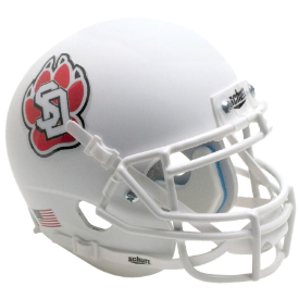 South Dakota Coyotes Matte White w/Chrome Decal Schutt XP Authentic Full Size Football Helmet