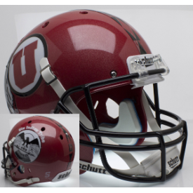 Utah Utes Ute Tribute Schutt XP Replica Full Size Football Helmet
