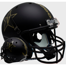 Vanderbilt Commodores Matte Black w/Anchor Schutt XP Replica Full Size Football Helmet