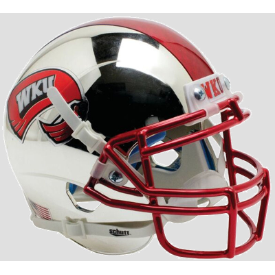 Western Kentucky Hilltoppers Chrome w/ two toned stripe Schutt XP Replica Full Size Football Helmet