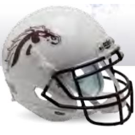 Western Michigan Broncos White Schutt XP Replica Full Size Football Helmet