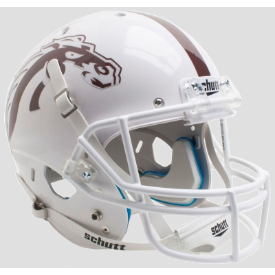 Western Michigan Broncos White w/White Mask Schutt XP Replica Full Size Football Helmet
