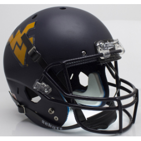 West Virginia Mountaineers Matte Navy Schutt XP Replica Full Size Football Helmet