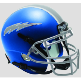 Air Force Falcons Satin Blue Schutt XP Authentic Mini Football Helmet