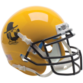 Appalachian State Mountaineers Yosef Yellow Schutt XP Authentic Mini Football Helmet