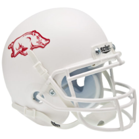 Arkansas Razorbacks Matte White Schutt XP Authentic Mini Football Helmet