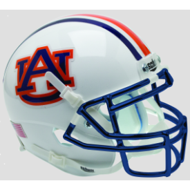 Auburn Tigers Chrome Mask Schutt XP Authentic Mini Football Helmet