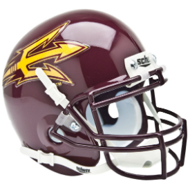 Arizona State Sun Devils Maroon Schutt XP Authentic Mini Football Helmet