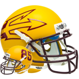 Arizona State Sun Devils Matte Gold Lg Pitchfork Schutt XP Authentic Mini Football Helmet