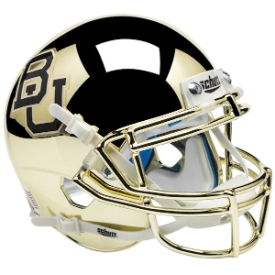 Baylor Bears Gold Chrome Schutt XP Authentic Mini Football Helmet