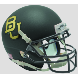 Baylor Bears Matte Anthracite Schutt XP Authentic Mini Football Helmet