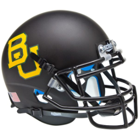 Baylor Bears Matte Black Schutt XP Authentic Mini Football Helmet