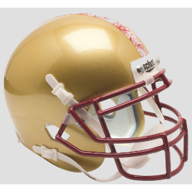Boston College Golden Eagles Paisley Stripe Schutt XP Authentic Mini Football Helmet