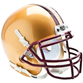 Boston College Golden Eagles Stained Glass Schutt XP Authentic Mini Football Helmet