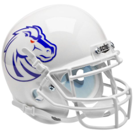 Boise State Broncos White Schutt XP Authentic Mini Football Helmet