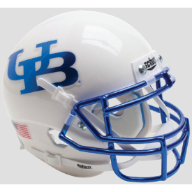 Buffalo Bulls White Chrome Mask Schutt XP Authentic Mini Football Helmet