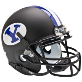Brigham Young Cougars Matte Black Schutt XP Authentic Mini Football Helmet