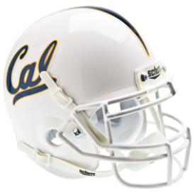 California (CAL) Golden Bears White Schutt XP Authentic Mini Football Helmet