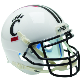 Cincinnati Bearcats Matte White Schutt XP Authentic Full Size Football Helmet
