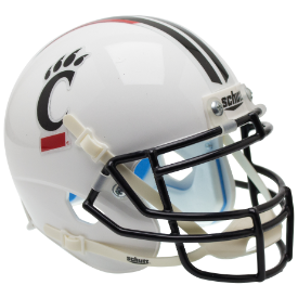 Cincinnati Bearcats Alt Stripe Schutt XP Authentic Mini Football Helmet