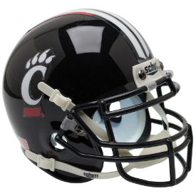 Cincinnati Bearcats Black Schutt XP Authentic Mini Football Helmet