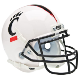 Cincinnati Bearcats White Schutt XP Authentic Mini Football Helmet