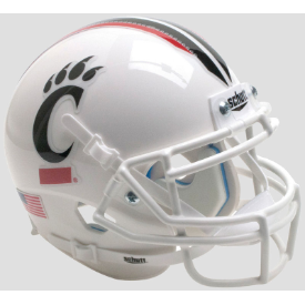 Cincinnati Bearcats White Mask Schutt Mini Football Helmet Desk Caddy