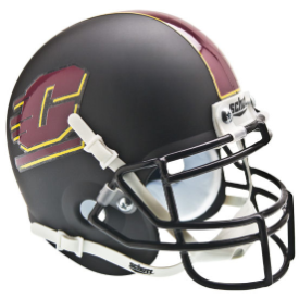 Central Michigan Chippewas Black Schutt XP Authentic Mini Football Helmet