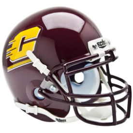 Central Michigan Chippewas Schutt XP Authentic Mini Football Helmet