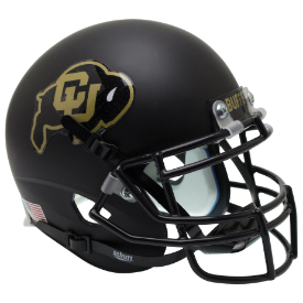 Colorado Buffaloes Black Schutt XP Authentic Mini Football Helmet