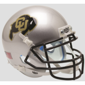 Colorado Buffaloes Silver Schutt XP Authentic Full Size Football Helmet