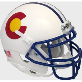 Colorado State Rams White Schutt XP Replica Full Size Football Helmet