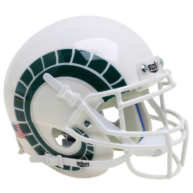 Colorado State Rams Schutt XP Authentic Mini Football Helmet White With Horns