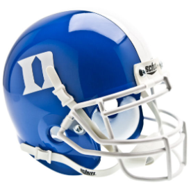 Duke Blue Devils Blue Schutt XP Authentic Mini Football Helmet