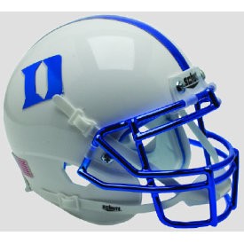 Duke Blue Devils Chrome Mask Schutt XP Authentic Mini Football Helmet