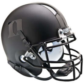 Duke Blue Devils Matte Black/Black Schutt XP Authentic Mini Football Helmet
