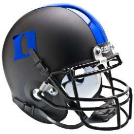 Duke Blue Devils Matte Black/Blue Schutt XP Authentic Mini Football Helmet