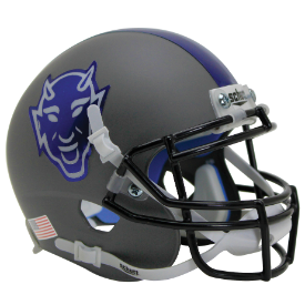 Duke Blue Devils Matte Gray Schutt XP Authentic Mini Football Helmet