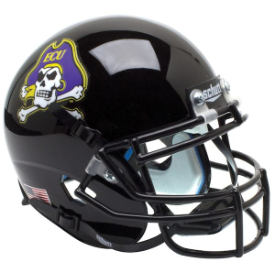East Carolina Pirates Black Schutt XP Authentic Mini Football Helmet