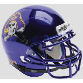 East Carolina Pirates Chrome Schutt XP Authentic Full Size Football Helmet