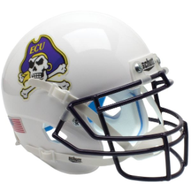 East Carolina Pirates White Schutt XP Authentic Mini Football Helmet